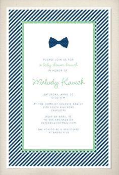 Bow tie baby shower invitation by LeaDelaverisDesign on Etsy, $25.00
