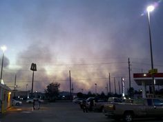 Fire north of our town  this past summer. Scarey.