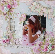 "'t Scrap Ateljeetje: ""Dream"" with Kaisercraft - True Romance Scrapbook Page Layouts, Scrapbook Paper, Scrapbooking Ideas, True Romance, Old Paper, Mixed Media Collage, Layout Inspiration, Zou, Elementary Schools"