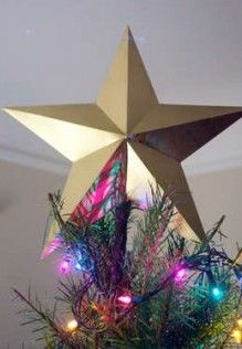 DIY Paper Star Tree Topper. This might be today's project...