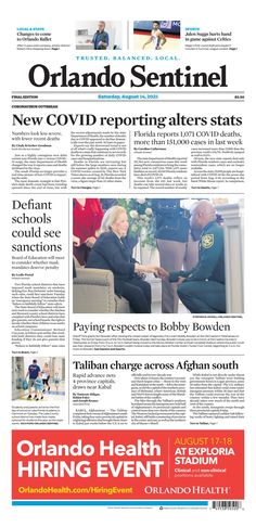 Orlando Sentinel Bobby Bowden, New York Post, It Hurts, Florida, Positivity, School, The Florida, Optimism