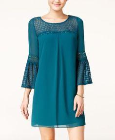 BCX Juniors' Crochet Lace Shift Dress