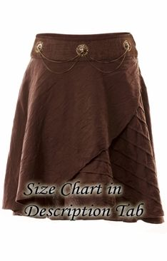 103 Brown Layered Skirt -- intriguing.. maybe with some sort of a legging or tight pant...