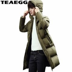 TEAEGG Winter Jackets Mens Parkas Para Homens Hooded Amry Green Men Winter Jacket 2017 Warm Abrigos Hombre Invierno Hombre AL256. Yesterday's price: US $119.17 (103.40 EUR). Today's price: US $66.74 (58.17 EUR). Discount: 44%.