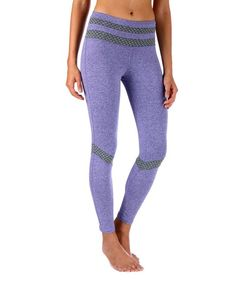 Purple Honeycomb Leggings