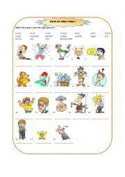 English worksheet: How do you feel ?