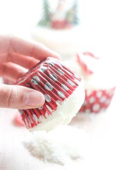 Christmas Coconut Candy Cane Cupcake Recipe!! http://FlavoursandFrosting.com