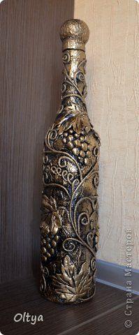 Декор предметов Аппликация из скрученных жгутиков Бутылочки Бумага фото 10