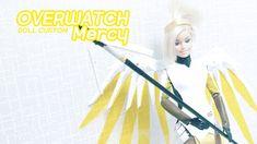 Doll Custom - Overwatch Mercy - YouTube Diy Ooak Doll, Ooak Dolls, Barbie Dolls, Overwatch Mercy, Youtube, Barbie Doll, Youtubers, Youtube Movies, Barbie