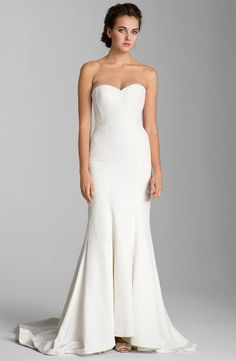 8. #Nicole Miller #Trumpet #Wedding #Dress... - 8 Wedding Dress #Ideas for Jennifer #Aniston... → Wedding #Attire