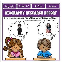 Biographies : Biographies Research Report : Is your class working on Biography Projects? Or learning about famous and influential people and looking for a creative way for students to present and display their biographies or projects?This biographies product is newly updated, revised, and improved with over 20 pages!