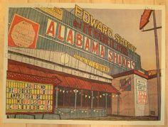 2013 Edward Sharpe - Red Rocks Concert Poster by Landland