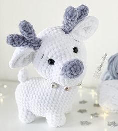Crochet Patterns Amigurumi, Crochet Toys, Cat Crochet, Quad Squad, Mein Hobby, White Reindeer, Super Bulky Yarn, Crochet Animals, Handmade Toys