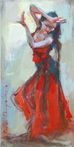 Ogień Flamenco w malarstwie XXI wiecznym.