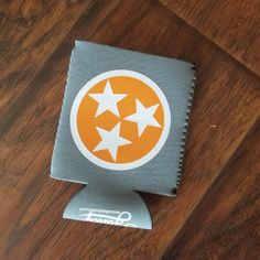 Orange Tri-Star on Gray Koozie