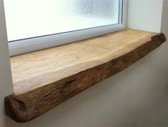 great ideas for wooden windowsill in your home Solid wood sill board unhandled small window Source by Wooden Windows, Small Windows, Natural Wood Furniture, Wooden Furniture, Natural Wood Decor, Basement Furniture, Furniture Ideas, Oak Window Sill, Window Sill Decor