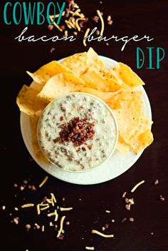 Cowboy Bacon Burger Dip by Three in Three #shop #cbias