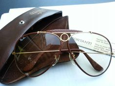 a60d162b9e0 Vintage Rayban Shooter Leather OSTRICH
