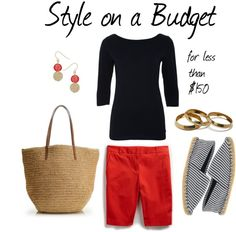 """""""Navy and Coral"""" by bluehydrangea on Polyvore"""