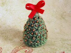 choinka szydełkowa złota #crochet #christmas #tree #gold #szydełko #handmade