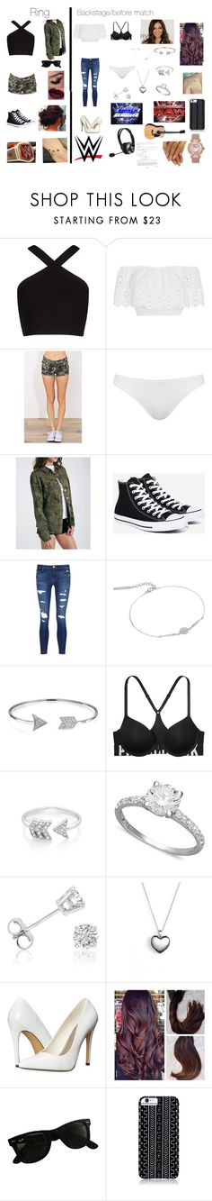 """Wwe"" by hannahgrace6704 ❤ liked on Polyvore featuring BCBGMAXAZRIA, Miguelina, Topshop, Converse, J Brand, Lucky Brand, Bling Jewelry, Victoria's Secret, EF Collection and R.H. Macy's & Co."