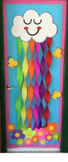 home decor ideas Preschool Door, Preschool Weather, Preschool Bulletin Boards, Kindergarten Classroom, Classroom Design, Classroom Themes, Classroom Decor, Classroom Rules, Classroom Language