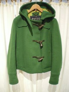 short duffle coat green