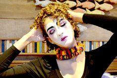 Maquiagem artística de Colombina Vintage Passo a Passo