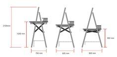 Adjustable Standing Desk on Behance Adjustable Height Desk, Adjustable Table, Diy Standing Desk, Art Easel, Sit Stand Desk, Gaming Desk, Home Projects, Office Desk, Diy Furniture