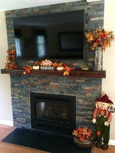 images fireplace slate tile | On The Level Home Remodeling LLC ...