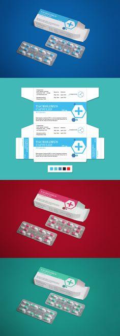 Pharmaceutical Medicine Packaging Design & Mock-Up PSD