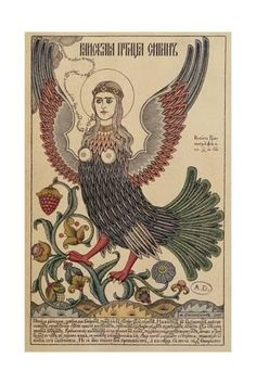 Giclee Print: Postcard Depicting a Harpy, 1905 : 24x16in