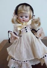 """1956 8""""  VINTAGE VOGUE GINNY DOLL DEB SERIES, PAINTED LASHES SLNW"""