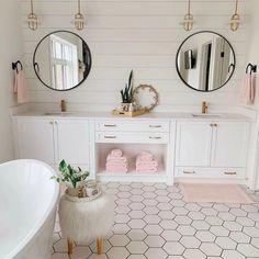 Latitude Run Lafon Modern & Contemporary Wall Mounted Bathroom/Vanity Mirror , Home Decor Accessories, Bathroom Interior Design, Home Remodeling, Cheap Home Decor, Girl Bathrooms, Home Decor, House Interior, Bathrooms Remodel, Bathroom Decor