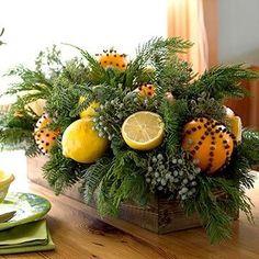 citrus centerpiece | Citrus Christmas Centerpiece by jensup