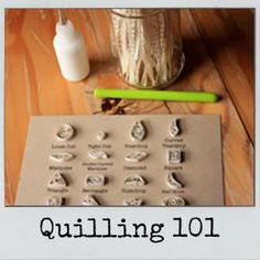 The Sweet Spot: Quilling 101 - This blog has lots of quilling basics!