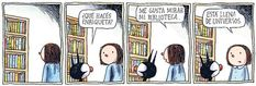 This is one of the reasons why I love Enriqueta. and Liniers English Fun, Humor Grafico, Jokes Quotes, Hilarious Quotes, Book Quotes, Best Inspirational Quotes, Film Music Books, Teaching Spanish, Comic Strips