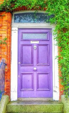 Dublin, Ireland - so colorfuuulllll :) Cool Doors, Unique Doors, Door Knockers, Door Knobs, Beautiful Architecture, Art And Architecture, Monuments, Purple Door, When One Door Closes