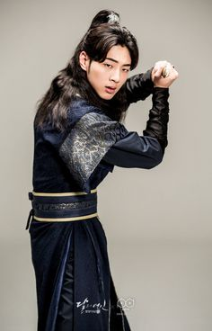 Ji Soo as Prince Wang Jung in Moon Lovers: Scarlet Heart Ryeo. Moon Lovers Cast, Moon Lovers Drama, Asian Actors, Korean Actors, Scarlet Heart Ryeo Cast, Ji Soo Actor, Song Jae Rim, Wang So, Warrior Costume