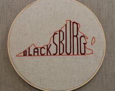 Virginia Cross-Stitch DIY Kit - Choose Your City