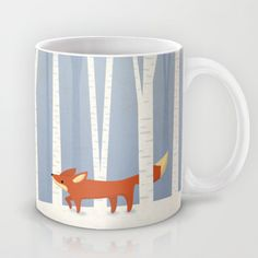 "Mug-o'-the-Month Club: ""Fox in the Snow,"" by Liz Urso"