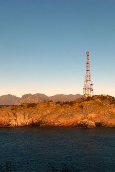 Satellite Tower in the small village of Henningsvær in the Lofoten Islands