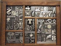 Very Cool Letterpress Metal TYPE COLLAGE Graphic Design