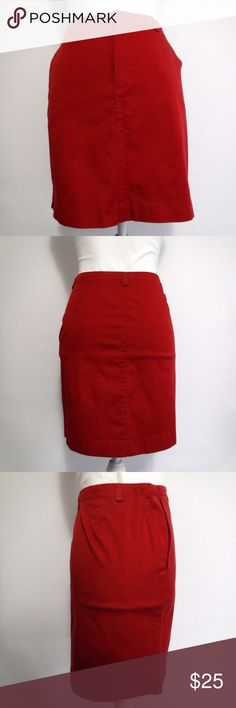 """American Eagle Red Mini Stretch Skirt Size 8 American Eagle Red Mini Stretch Skirt Size 8  2 Pockets Belt Loops (1"""" Wide) Velcro with Zipper Closure  98% Cotton 2% Spandex    In Excellent Pre-Owned Condition and Shows Normal Signs Of Wear With No Stains Or Holes.   All Measurements Posted Below are Aprox. & Taken While Laying Flat  Waist: 15.5""""  Length: 17""""  Please Ask Any Questions You may Have Before Purchasing.  Smoke & Pet Free Home  Please Check Out My Other Items  Inv#29 American Eagle…"""