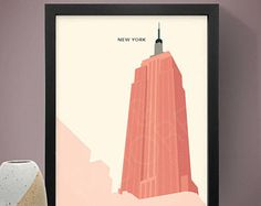 New York - Empire State Building Poster, Art Print, City Poster, New York Print