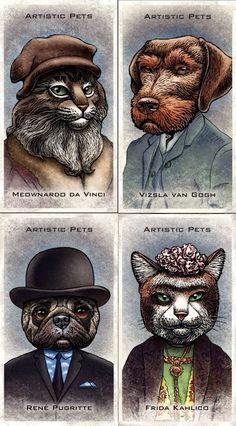 Artistic Pets Trading Card set