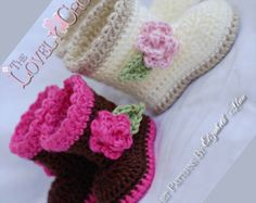 Crochet Pattern Baby Booties for Baby Garden Boots by ebethalan