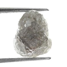 1.15 TCW Africn Natural Loose Raw Rough Diamond Natural Shape Silver Brown Color