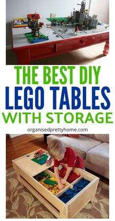 Check out these 15 plus DIY LEGO table ideas.  So simple to make a homemade LEGO play table yourself.