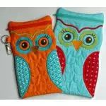 In The Hoop :: Bags, Cases, Purses & Wallets :: Owl Zippered Cases - Embroidery Garden In the Hoop Machine Embroidery Designs